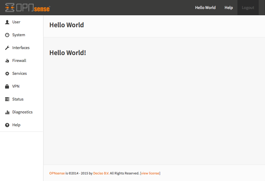 "Serving the first ""hello world"" page"
