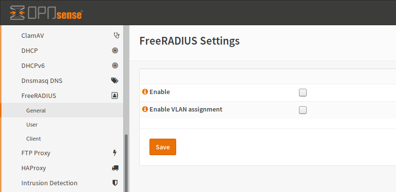 FreeRADIUS — OPNsense documentation