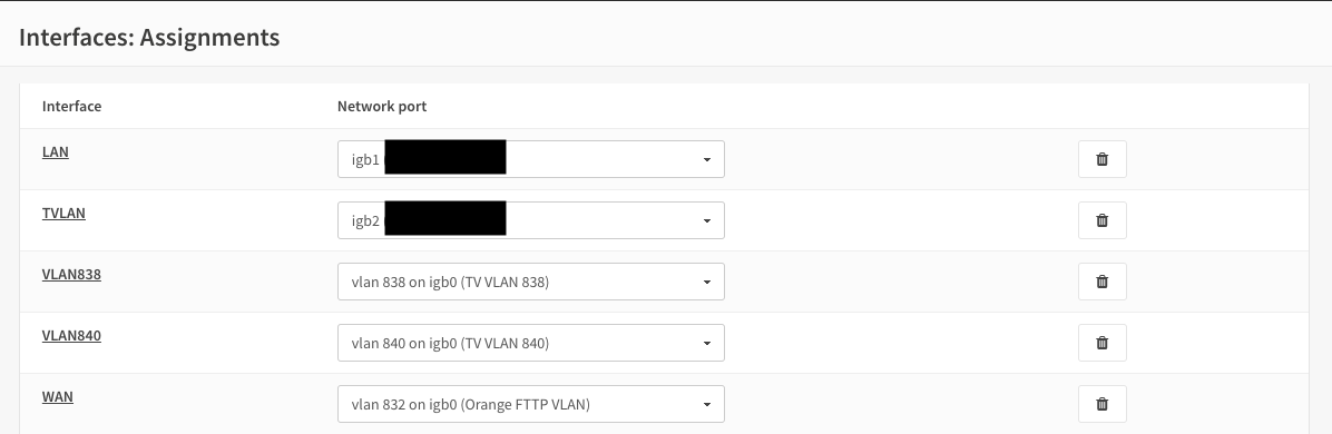 Orange France IPTV setup — OPNsense documentation